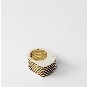 AllSaints Roche Ring in Gold